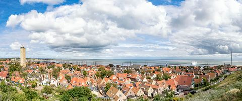 Sky, Town, Panorama, Property, Residential area, Natural landscape, Human settlement, Urban area, City, Real estate,