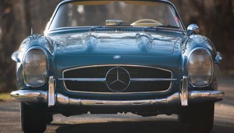 Land vehicle, Vehicle, Car, Coupé, Mercedes-benz 300sl, Classic car, Mercedes-benz, Sports car, Mercedes-benz 190sl, Hood,