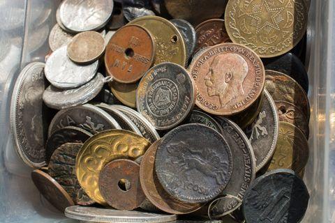 Money, Currency, Coin, Cash, Saving, Treasure, Metal, Copper, Money handling, Bronze,
