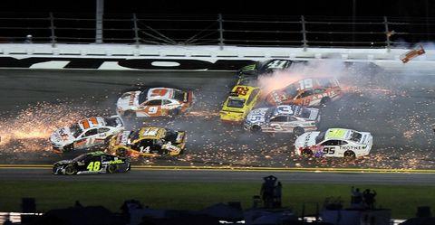 Stock car racing, Motorsport, Racing, Auto racing, Vehicle, Sports, Demolition derby, Rallycross, Monster truck, Car,