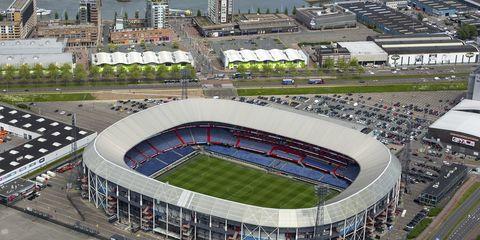 Sport venue, Stadium, Arena, Soccer-specific stadium, Bird's-eye view, Metropolitan area, Race track, Architecture, Urban design, Urban area,