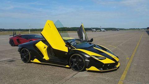 Land vehicle, Vehicle, Car, Supercar, Sports car, Automotive design, Yellow, Lamborghini, Performance car, Lamborghini aventador,