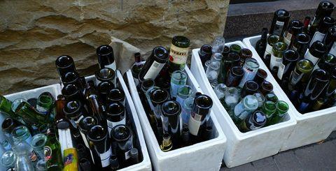 Bottle, Wine bottle, Glass bottle, Wine, Drink, Drinkware, Alcohol, Plant, Tableware, Plastic bottle,