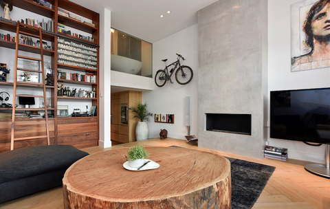 Room, Interior design, Living room, Furniture, Property, Ceiling, Building, Wall, Wood flooring, Table,