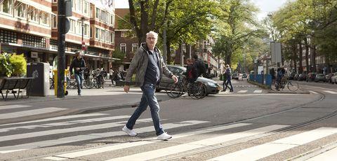 Photograph, Pedestrian crossing, Pedestrian, Road, Street, Zebra crossing, Snapshot, Infrastructure, Street fashion, Urban area,