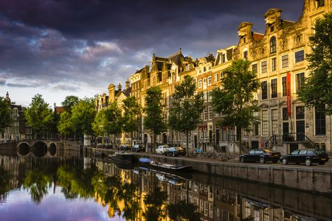 Reflection, Waterway, Water, Canal, Sky, Town, Landmark, Architecture, Cloud, Tree,