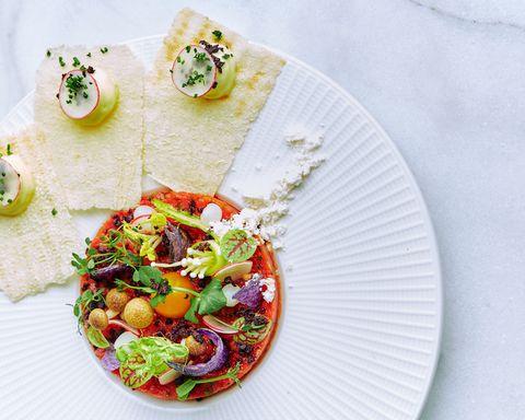 Dish, Food, Cuisine, Ingredient, Vegetarian food, Taco, Korean taco, Produce, Recipe, Mexican food,