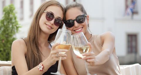 Eyewear, Hair, Sunglasses, Blond, Glasses, Drinking, Fun, Vacation, Drink, Vision care,