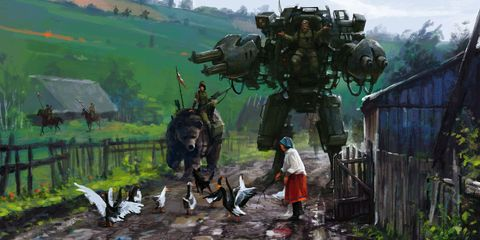 This Artist Paints Giant Killer Robots Into Scenes From the