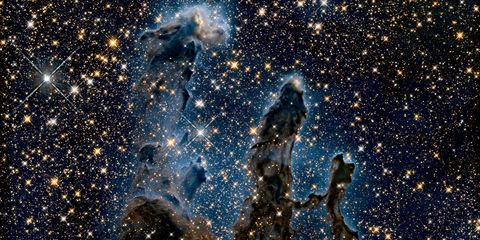 A view of the Pillars of Creation in near infrared