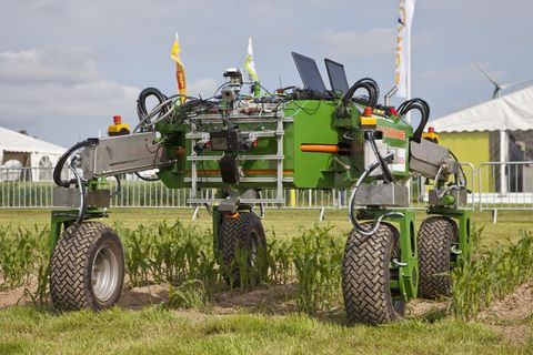 Bonirob and his buddies can work in tandem to remove weeds from the land and applying fertilizer. The robot is autonomous, and designed to work in tandem with other models.