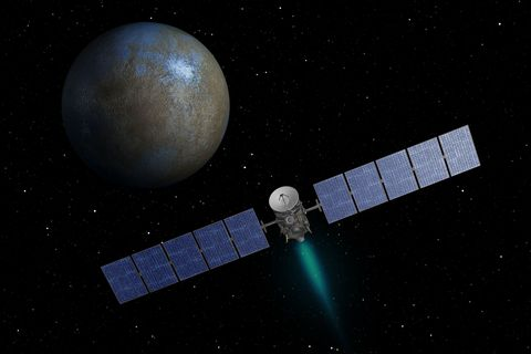 Dawn Spacecraft Approaches Ceres
