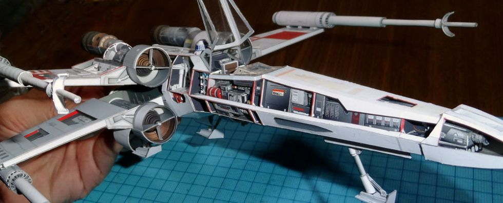 Marvel at These Perfect Paper Star Wars and Battlestar Galactica Models