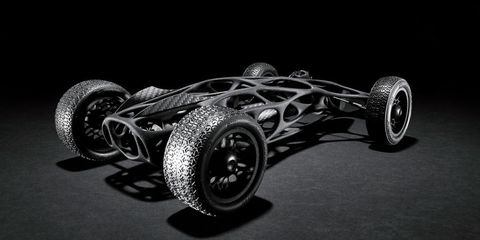 3D-printed Rubber Band Car