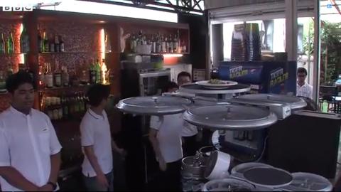 Singapore Drone Waiters