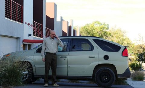 "The <a href=""http://blog.caranddriver.com/complete-acquiesence-bob-lutz-reveals-how-the-pontiac-aztek-happened/"" target=""_blank"">legendarily hideous Pontiac Aztek</a> may have seemed like a distracting choice as protagonist-turned-antagonist Walter White's vehicle. In fact, it's a masterstroke: Like Walter, the Aztek was family-oriented, unsuccessful in its intended mission, and built on brittle bones. It's a deftly chosen totem for a character who wanted to escape suburban middle-class monotony but never knew how. And when Walter finally did escape his former anonymity, the car became a Dorian Gray–esque portrait of its owner's downward moral spiral, collecting damage in pace with Walter's increasing ruthlessness. When he ultimately (spoiler alert!) ditches the faded and abused crossover, the act is an undeniable symbol of Walter's choice to never go back to the life he had before.   What We Said: ""To our chagrin, the production car is nearly a carbon copy of the show car . . . It needed 10.8 seconds to struggle to 60 mph from rest. Gasping to 100 mph takes 51.8 seconds."" —<a href=""http://www.caranddriver.com/reviews/pontiac-aztek-gt-road-test"" target=""_blank"">October 2000</a>"