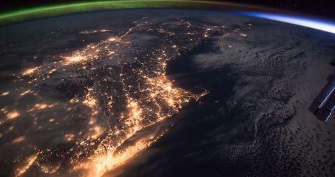 NASA ISS Aurora
