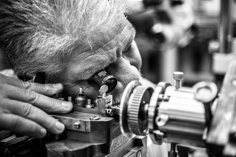 Engineering, Machine, Metalworking, Nail, Machine tool, Safety glove, Steel, Mechanic, Artisan, Tool,