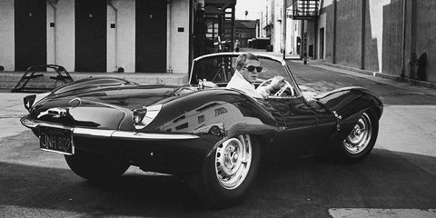 Actor Steve McQueen driving his Jaguar XK SS in California, June 1963. (Photo by John Dominis//Time Life Pictures/Getty Images)