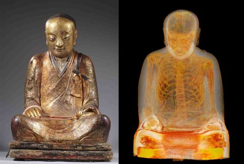 This Buddha Statue Hid a Mummified Monk for a Millennium