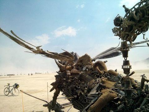 Claude the Dragon at Burning Man 2013