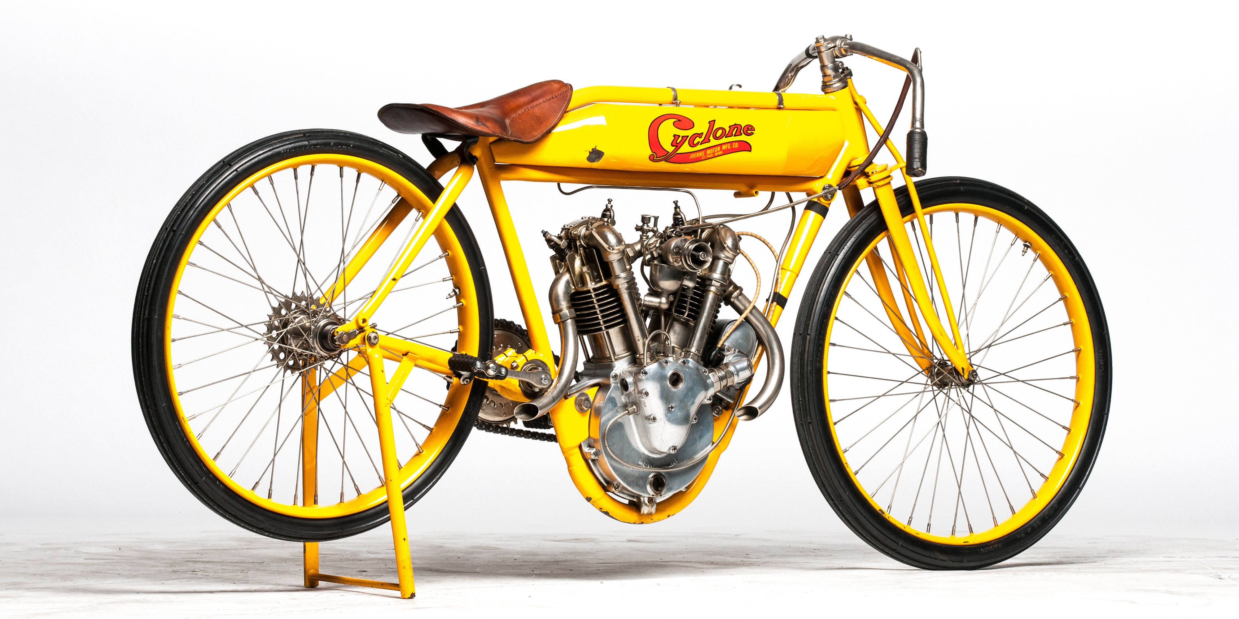 American, temperamental, and a hell of a performer. Similarities come easily between this 1915 Cyclone Board Track Racer and its former owner, Steve McQueen.