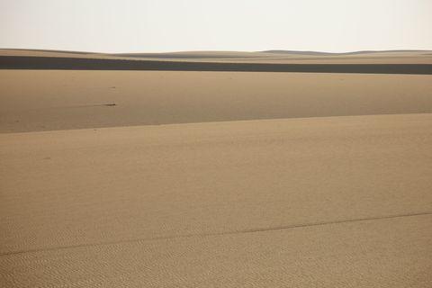 Brown, Natural environment, Erg, Dune, Sand, Landscape, Aeolian landform, Atmosphere, Desert, Horizon,