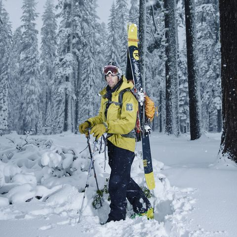 Winter, Freezing, Tree, Snow, Mammal, Forest, Jacket, Adventure, Winter sport, Ski Equipment,