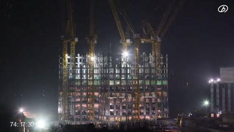 Night, City, Metropolis, Urban area, Metropolitan area, Landmark, Electricity, Street light, Crane, Midnight,