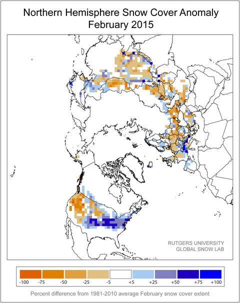 US Snow Cover Map EPOD A Service Of USRA Community Collaborative - Us snow cover map noaa
