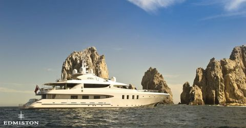 "<p>The 50-meter <a href=""http://www.edmiston.com/luxury-yachts-for-sale/azteca-ii-1105/"">Azteca II</a> sleeps 12, the perfect vessel for a lengthy, leisurely trip — or not-so-leisurely, if you take advantage of the ships' jet ski, Seadoos, and Waverunners.</p>"