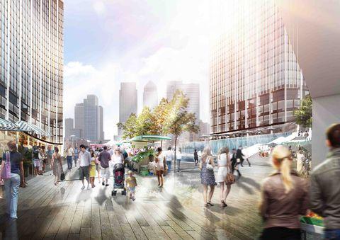 Tower block, Metropolitan area, City, Urban area, Public space, Mixed-use, Metropolis, Commercial building, Building, Skyscraper,