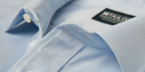 Blue, Collar, Dress shirt, Denim, Grey, Electric blue, Material property, Silver, Stitch, Button,