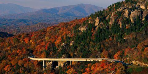Vegetation, Nature, Mountainous landforms, Bridge, Leaf, Natural landscape, Mountain, Deciduous, Highland, Hill,