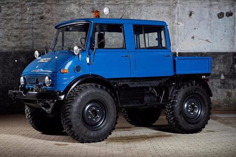 This Unimog is part of Bonhams' second Mercedes-Benz one-make auction at the marque's museum in Stuttgart. It went so swimmingly last time, they've decided on an encore.