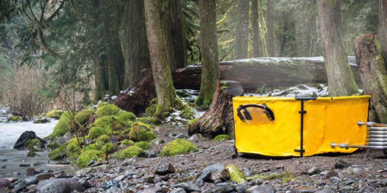 Bring This Portable Tub on Your Next Camping Trip