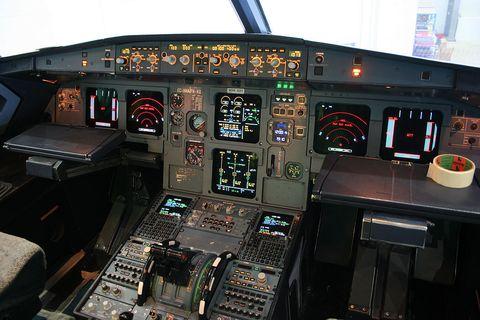 An Airbus A320 Cockpit