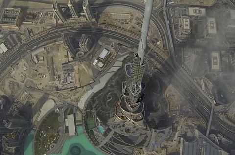 """Even Dubai's Burj Khalifa is <a target=""""_blank"""" href=""""https://www.youtube.com/embed/fYfhFpCG0ok"""">no match</a> for how high a drone can fly"""