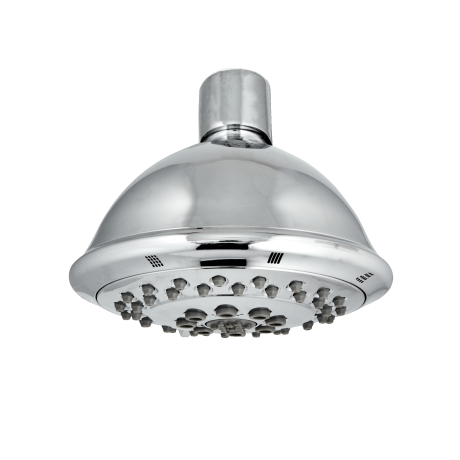 "<a target=""_blank"" href=""http://www.danze.com/4-three-function-showerhead/d460047/"">Danze 4"" 3-Function Showerhead D460047</a> ($54)  Our testers found this one easy to install, and it offers a fast rinse thanks to wide coverage and a strong flow.  <strong>Good to know:</strong> It had a 1.6 gpm flow rate in our test, so it's great for savings. (A low flow rate doesn't necessarily mean a less powerful spray — just that less water is used)."
