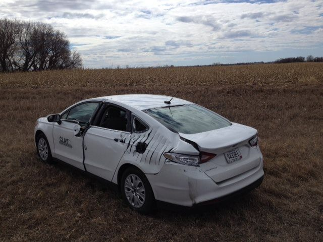 Plane Propeller Slices Into Ford Fusion During Emergency Highway Landing
