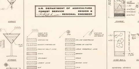 Cocktail Construction Chart, 1974