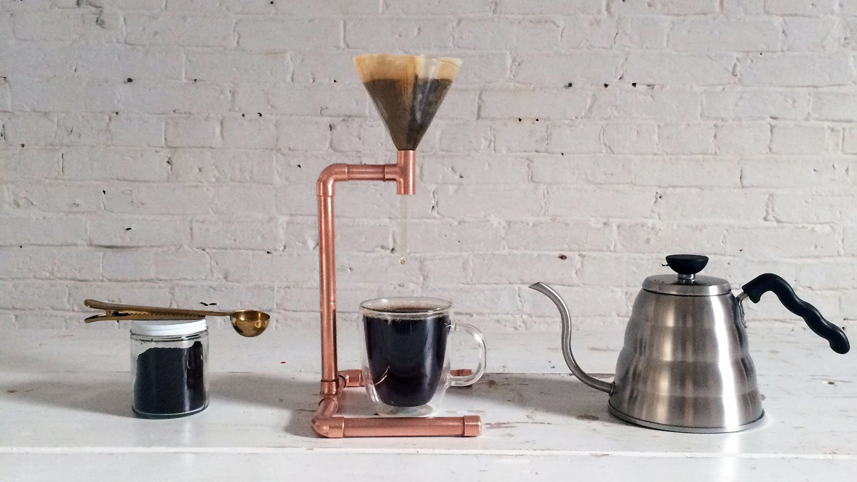 You Can Build This Simple Copper Pipe Coffee Maker