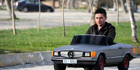 Man sells his miniature car for 12 thousand Euros in Turkey's Isparta