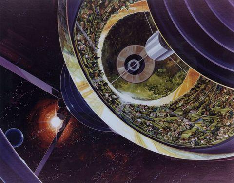 Space, Circle, Spiral,