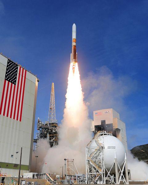 A United Launch Alliance Delta IV rocket.