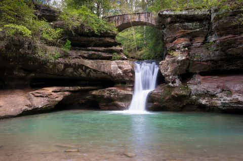 """<p>This <a target=""""_blank"""" href=""""http://www.hockinghills.com/"""">Ohio state park</a> is home to many beautiful natural formations, such as the popular Old Man's Cave — which was inhabited by explorers in the late 1700s.</p>"""