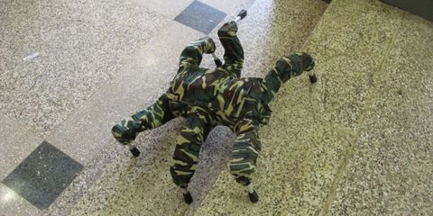 Camouflage, Military camouflage, Military person, Boot, Military uniform, Cargo pants, Military, Shadow, Army, Infantry,