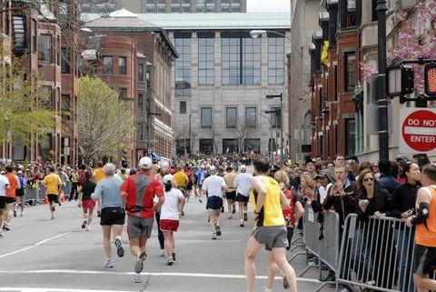 Footwear, People, Crowd, Road, Recreation, Infrastructure, Human leg, Metropolitan area, Endurance sports, Street,