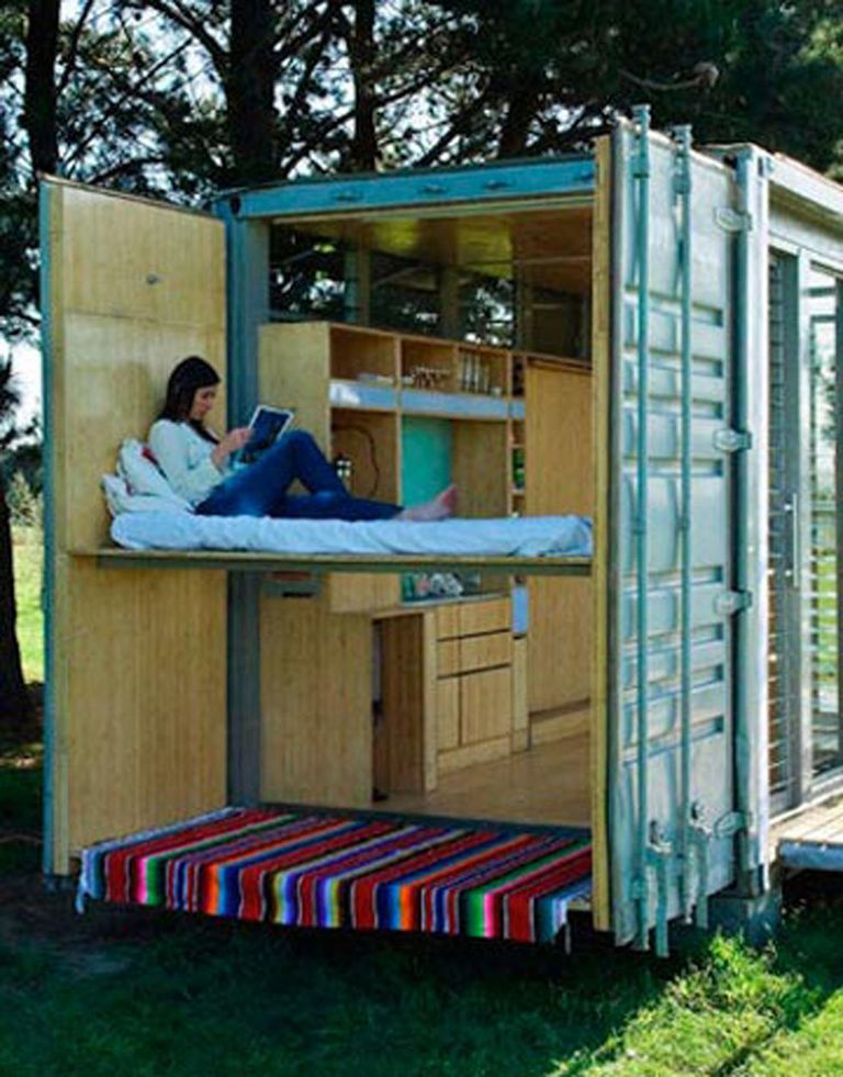 Need a temporary structure or small vacation home? Going off the grid? The  Port-a-Bach system from New Zealand's Atelier Workshop might be a good fit.
