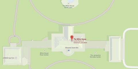 Edward Snowden Is in the White House, According to Google Maps